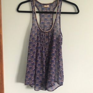 Purple/pink flowery and flowy tank top from aerie.